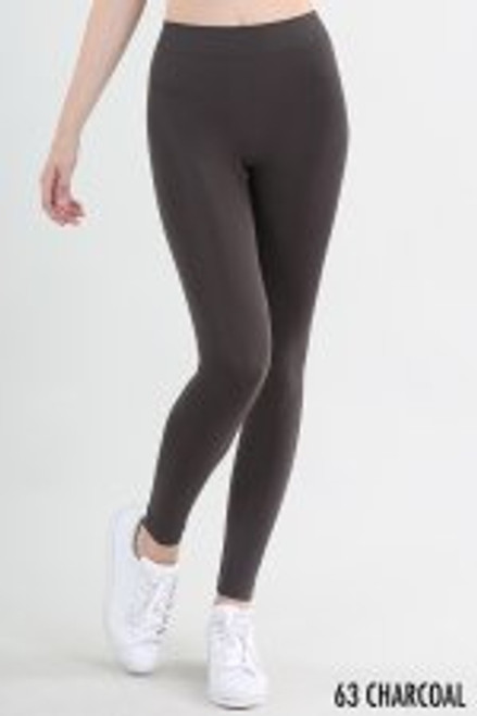 SEAMLESS ANKLE LENGTH LEGGINGS - OS - CHAR