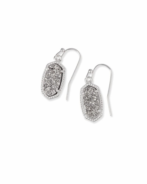 LEE EARRING - RHOD PLAT DRUSY