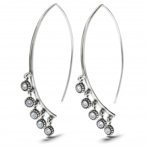 TWINECKLACELE DROPLET WIRE EARRING -