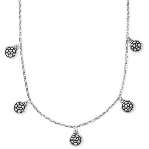 PEBBLE ROUND DROPLET NECKLACE -