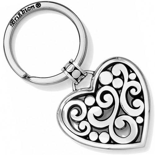 CONTEMPO HEART KEY FOB - SILVER