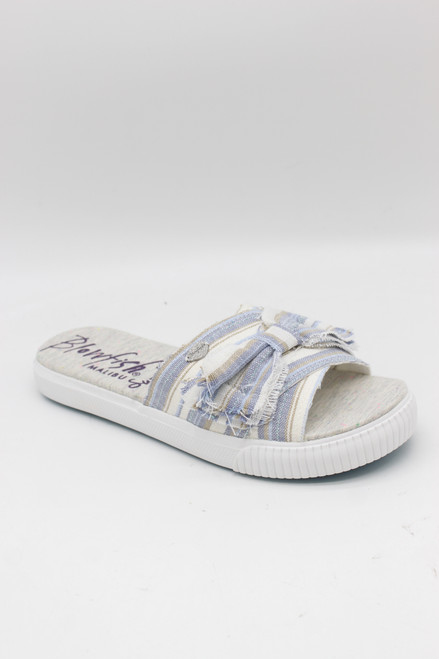 FONDUE SANDAL - BLUE WINDWARD LINEN