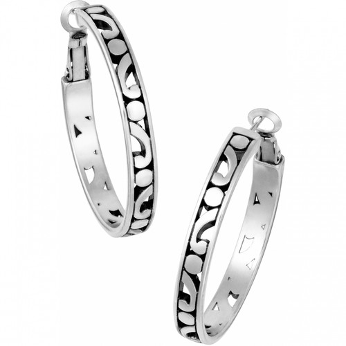 CONTEMPO MEDIUM HOOP EARRINGS - SILVER
