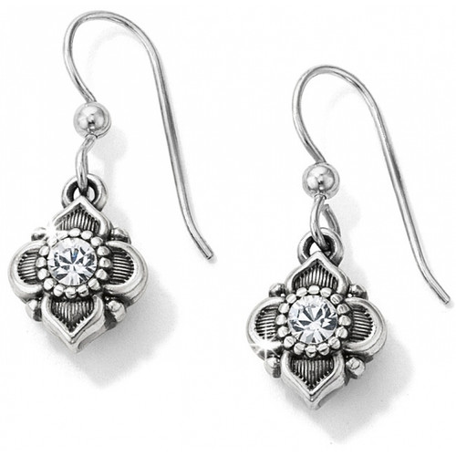 ALCAZAR FRENCH  WIRE EARRINGS - SILVER