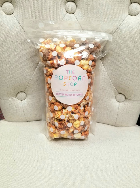 GOURMET POPCORN - BUTTER ALMOND TOFFEE