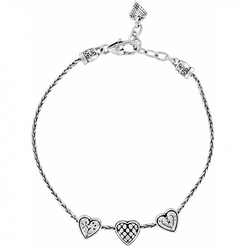 ENCHANTED HEARTS ANKLET - SILVER