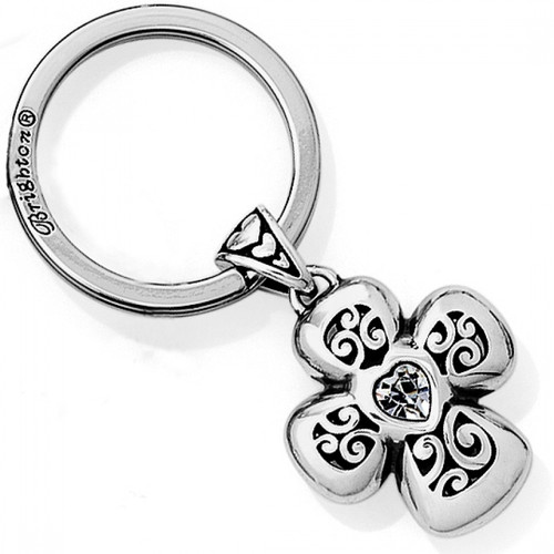 DIVINITY CROSS KEY FOB - SILVER