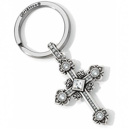 ALCAZAR CROSS KEY FOB - SILVER