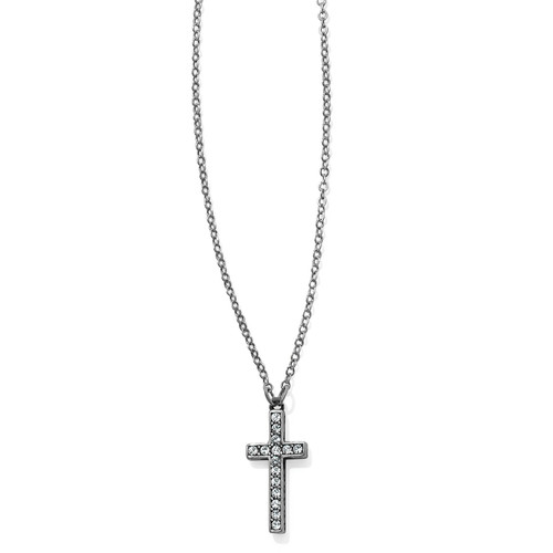 CHARA CROSS NECKLACE - SILVER