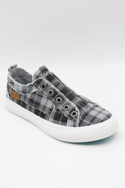 PLAY CANVAS SNEAKERS - GRAY GRAND CANYON PLAID