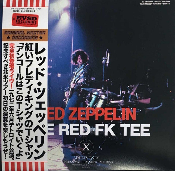 LED ZEPPELIN - THE RED FK TEE (2CD) EMPRESS VALLEY SUPREME DISC