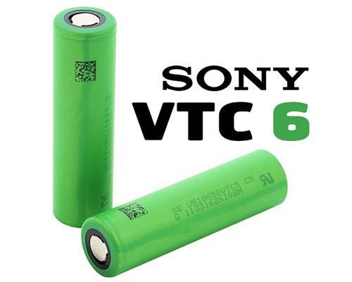 Batteria Sony 18650 ricaricabile modello VTC6 originale