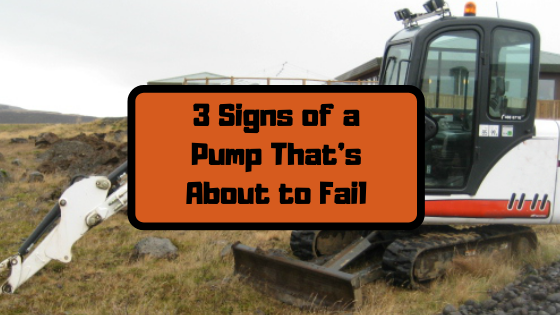3 Signs of a Pump That's About to Fail