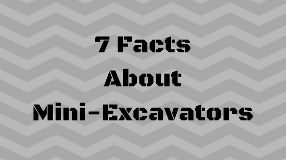 7 Facts About Mini-Excavators - Final Drive Parts - Hydraulic