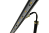 "Underside View of 12-16"" Ht Adjustable LED Piano Lamp Black Brass Accents"