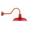 """Indoor/Outdoor Cherry Red 16"""" Contemporary Oldage LED Barn Light"""