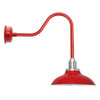 "10"" Peony Cherry Red Sleek LED Barn Lights"