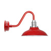 "10"" Vintage Peony Cherry Red Barn Lights"