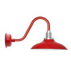 "Rustic 12"" Cherry Red Peony Barn Lights"