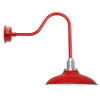 "12"" Cherry Red Peony Sleek Indoor/Outdoor Barn Lights"