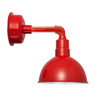 "14"" Blackspot LED Sconce Light with Cosmopolitan Arm in Cherry Red"