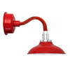 "12"" Peony LED Sconce Light with Chic Arm in Cherry Red"