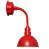 "8"" Blackspot LED Sconce Light with Trim Arm in Cherry Red"