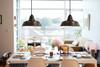 Goodyear LED Pendant Light in Mahogany Bronze Lifestyle