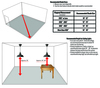 """Recommended Installing Dimensions for 10"""" Goodyear LED Pendant Light in Galvanized Silver"""