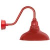 "12"" Dahlia LED Barn Light with Rustic Arm in Cherry Red"