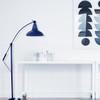 Cobalt Blue Dahlia Barn Floor Lamp Lifestyle