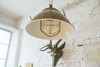 Sunbury Nautical Pendant Light in Vintage Brass