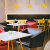 Yellow Dahlia LED Barn Pendant Light Lifestyle