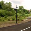 Customizable Dahlia LED Barn Lamp Post Life Style