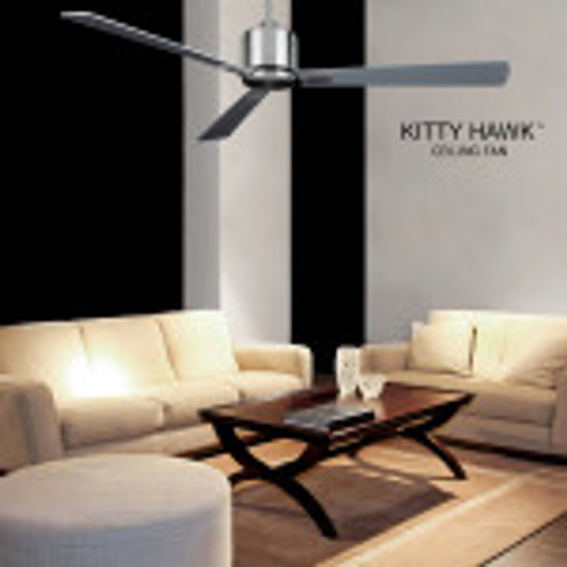 THE KITTY HAWK CEILING FAN CALLS ON A FUNCTIONAL AND MINIMAL DESIGN