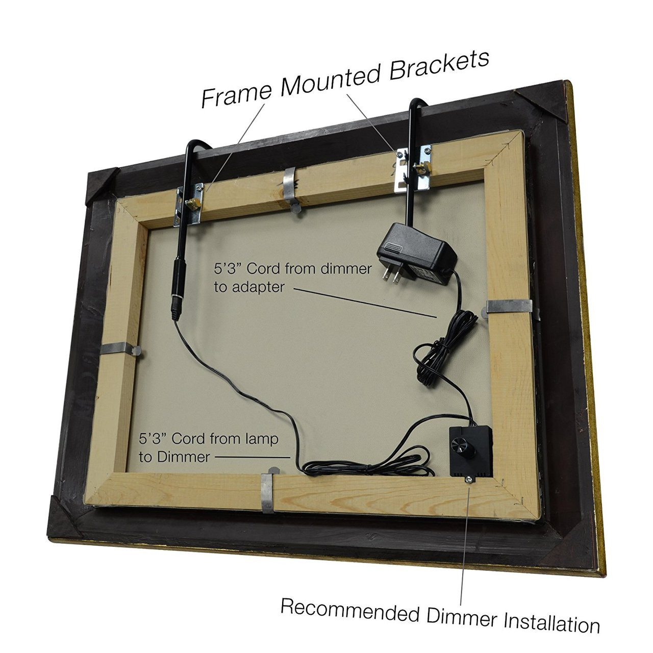 Led Picture Light 12 Inch Battery Operated Oil Rubbed Bronze Cocoweb