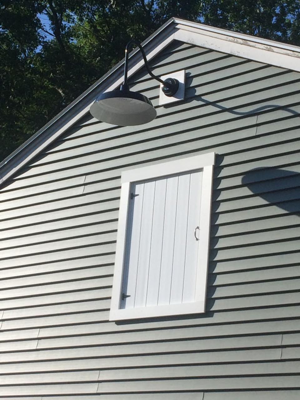 """Indoor/Outdoor Oldage 16"""" Black Vintage LED Barn Light ..."""
