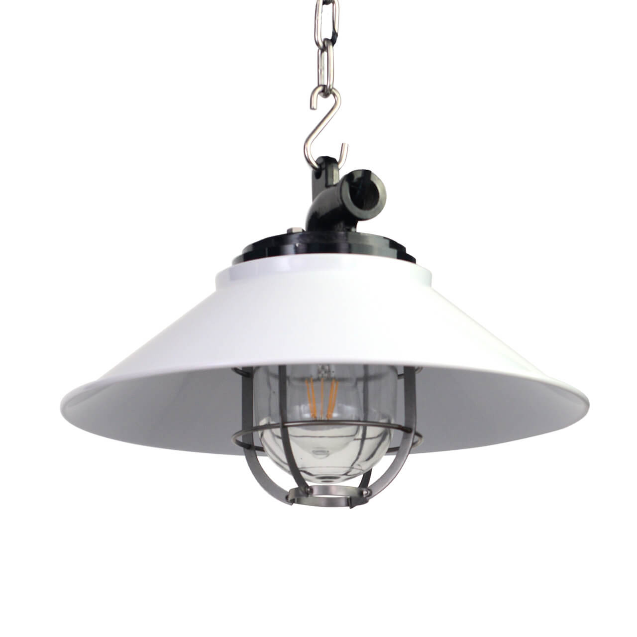 Albury Nautical Pendant Light In White Cocoweb Quality Led Lighting Specialists
