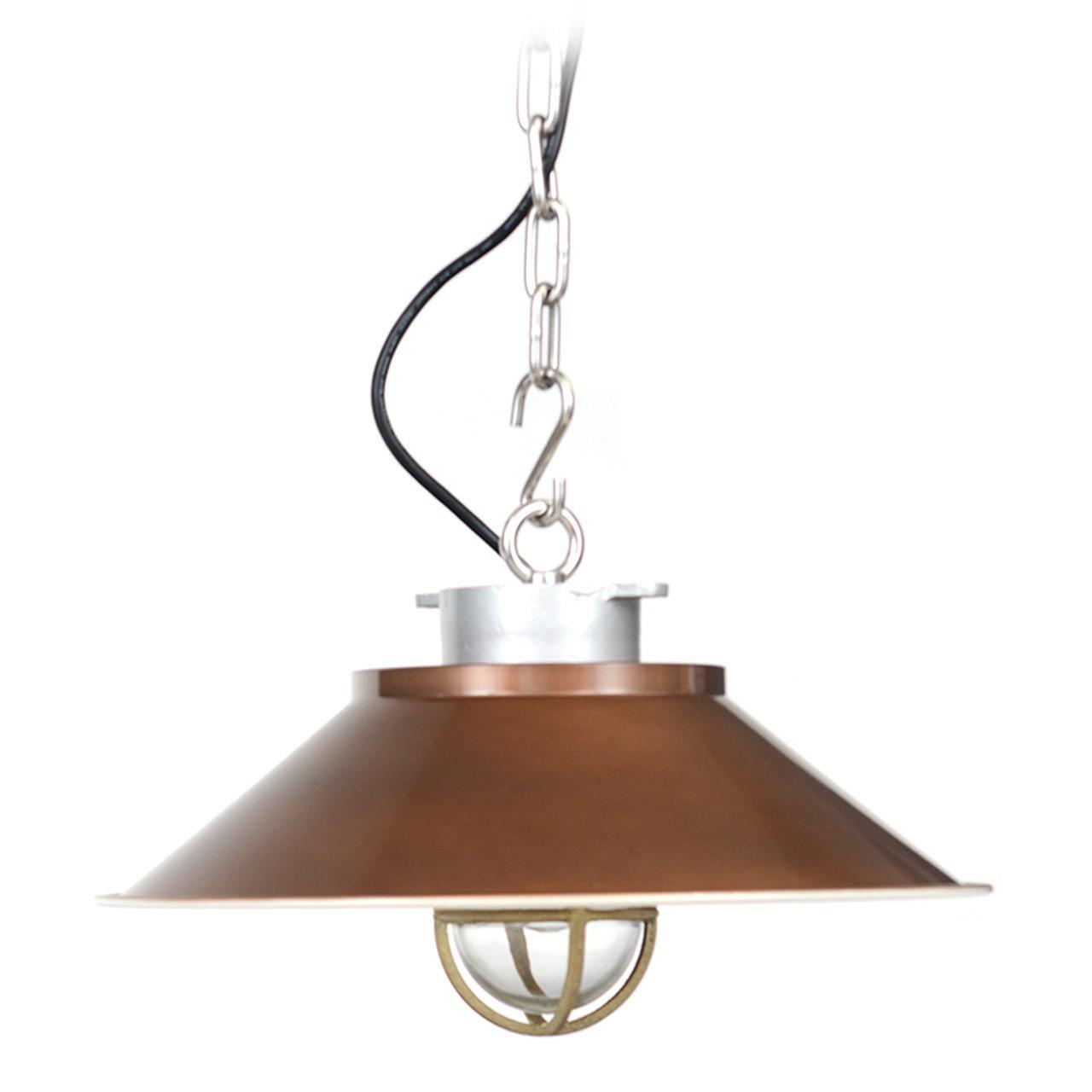 Devonport Nautical Pendant Light   Vintage Brass