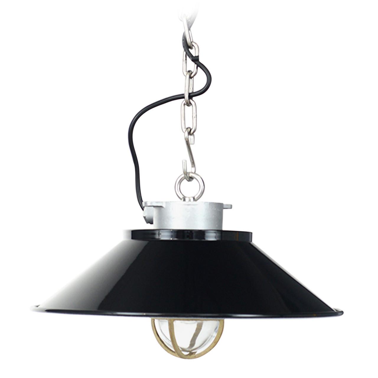 Devonport Nautical Pendant Light   Black