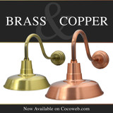 Now Available Brass & Copper Barn Lights