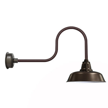 "14"" Mahogany Bronze Goodyear Industrial Indoor/Outdoor LED Barn Lights"