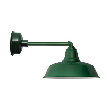 "Metropolitan Vintage Green 14"" Goodyear Indoor/Outdoor LED Barn Lights"