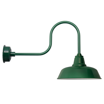 "Vintage Green 14"" Goodyear Industrial Indoor/Outdoor LED Barn Lights"