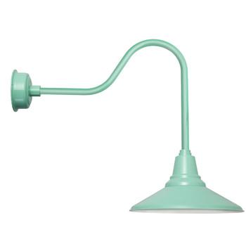 """Indoor/Outdoor Sleek 16""""Jade Calla LED Barn Light"""