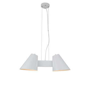 Perugia 2 Light LED Chandelier in White