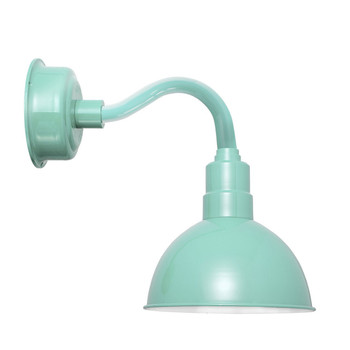 "10"" Blackspot LED Sconce Light with Chic Arm in Jade"