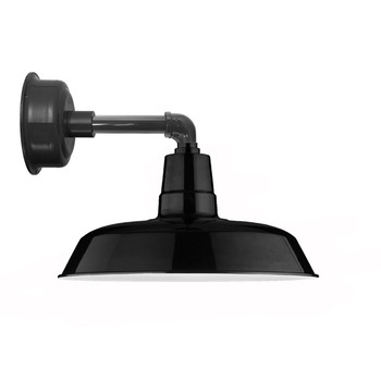 "12"" Oldage LED Sconce Light with Cosmopolitan Arm in Black"