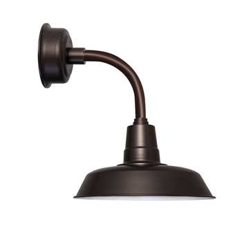 "14"" Oldage LED Sconce Light with Trim Arm in Mahogany Bronze"