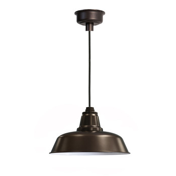 "16"" Goodyear LED Pendant Light in Mahogany Bronze"
